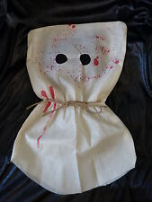 COSTUME D'HALLOWEEN BOURREAU MASQUE Sanglant Cap de Horreur Zombie