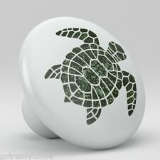 Ocean Sea Turtle Animal Ceramic Knobs Pulls Drawer Cabinet Vanity Closet 928