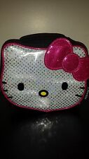 Hello Kitty Black Hot Pink Silver Sequin Lunch Box