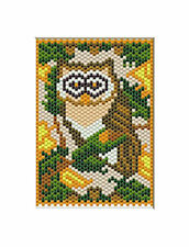 Owl In The Fall Beaded Banner Pattern
