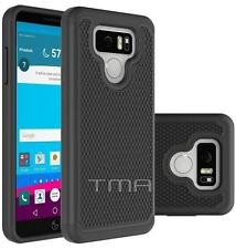 LG G6 Heavy Duty Rubber Dual Layer Impact Shockproof Hybrid Case Cover - Black