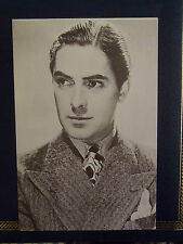 80s TYRONE POWER Actor Film Star Postcard 1930s studio portrait