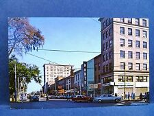 Postcard OH Warren Vintage Market & Main Street View Old Cars & Stores