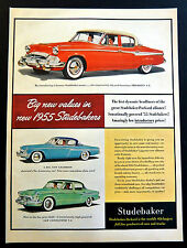 Vintage 1954 Studebaker Car new 1955 models advertisement print ad art