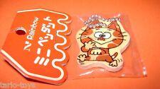 Tiny Cat - Gattino 80s Rainbow Nakamura Japan wood tag - targhetta legno kawaii
