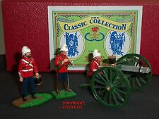 TROPHY MINIATURES EQ44 ZULU WAR BRITISH 24TH FOOT GATLING GUN TOY SOLDIER SET