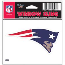 "New England Patriots 3""x3"" Car Decal [NEW] NFL Static Cling Auto Emblem Sticker"