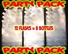 Plastic Flask 12 pack 16oz Great for Cruises, Runners, Rum, Wine, Sports Events