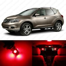 11 x Brilliant Red LED Interior Light Package For 2009 - 2013 Nissan Murano