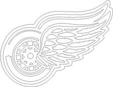 "6""x 4.5"" Detroit Red Wings - Car Window Decal"