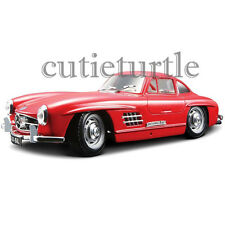 Bburago 1954 Mercedes Benz 300 SL Gullwing 1:24 Diecast Model Car 24023 Red