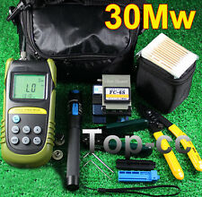 Fiber Optic FTTH Tool Kit Optical Power Meter FC-6S Fiber Cleaver 30Mw Visual
