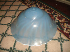 Vintage Art Deco Style Blue Swirled Glass Ceiling Hanging Lamp Shade-LQQK