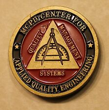 MCPD Center For Applied Quality Engineering Marine Challenge Coin