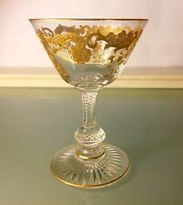 "Saint St Louis French Crystal ""Massenet"" Gold Liquor Cocktail Glass(es)"