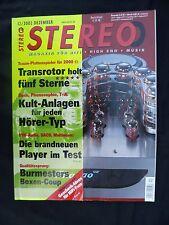 STEREO 12/02 SQF SON of PHARAO,MIRAGE OMNISAT 6,ORTOFON VITESSE,SPECTRAL DMC30SL