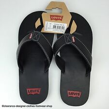LEVIS SANDAL FLIP FLOPS FAUX LEATHER PREMIUM THONG SANDALS LEVI'S UK 7.5 RRP £50