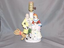 Underwriters Laboratories French Colonial Figural Lamp, Porcelain, No Shade