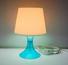 Ikea Lampan Table Lamp Light Turquoise & White 2002