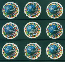 [JSC]1998 Europe France 98, Football World Cup round shape Stamps x 9