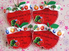 Personalizzata Grazie Maestra di mele la molto affamati Caterpillar tema.