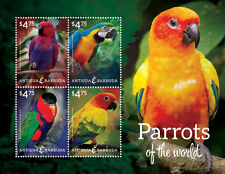 Antigua & Barbuda - Parrots of the World, 2014 - 1405 Sheetlet of 4 MNH