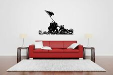 Wall Decor Art Vinyl Sticker Mural Decal Usa Soldier Patriotic Flag Poster SA411