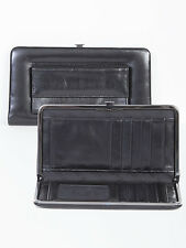 Scully 728 Black Italian Leather Women's Framed Clutch Wallet