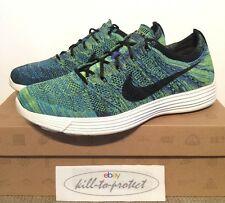 NIKE HTM LUNAR Flyknit Blue Mixture Sz US9 UK8 535089-400 Fragment NRG Aqua 2012