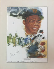 Willie Mays NY Giants signed Cliff Spohn lithograph autograph ins COA /660 rare