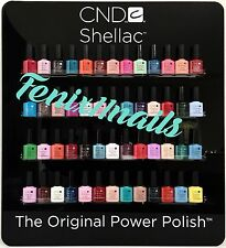 CND Shellac SALON SET~Pick ANY 52 Shellac Bottles .25 oz, FREE Wall Display! NIB