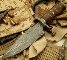 """""""Shaz"""" 1-OF-A-KIND HAND MADE DAMASCUS STEEL HUNTING KNIFE 