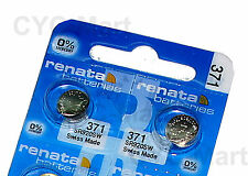 Renata 371 SR920SW Silver Oxide Watch Battery x 2 pcs, Swiss Made FREE POST