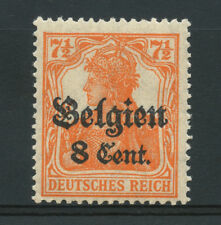 GERMANIA - BELGIO - 1916/18 - LOTTO/15109 - 8c. su 7,5p. ARANCIO - NUOVO