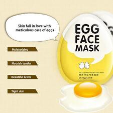 Korean EGG FACE SHEET MASK Facial Skin Care Moisturising ANTI AGING Whitening UK