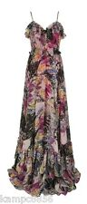 New Butterfly by Matthew Williamson Chiffon Butterfly Print Maxi Dress Sz UK 8
