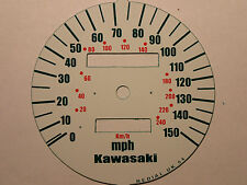 KAWASAKI ZR-7 (ZR750F1-F5) 1999-2003 REPLACEMENT MPH SPEEDO CLOCK DIAL UNDERLAY