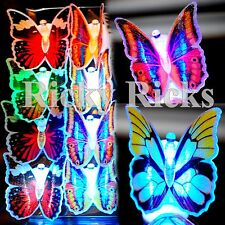 12 PCS Fiber Optic Lamp LED Butterflies Night Light Butterfly Wedding Decoration