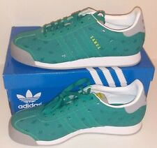 ADIDAS ORIGINALS SAMOA TREFOIL ALL-OVER green/yellow/gray mens SHOES 10
