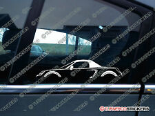2x car silhouette stickers - for Toyota Mr2 Spyder, roadster (W30) 3rd gen jdm