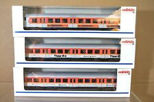 MARKLIN Märklin 4104 4105 4106 LIGHTS DB S-BAHN GREY ORANGE CONTROL COACH x3 nc