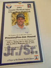 2003 Greater Hartford Open Golf Tournament Phil Mickelson Badge Ticket Stub SK3