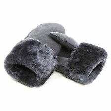LADIES WOMENS Faux Fur LEATHER GLOVES FLEECE LINED DRIVING SOFT WINTER MITTENS❤