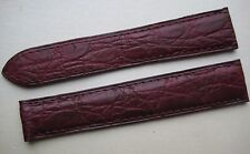 GENUINE CARTIER WATCH 19 mm STRAP BAND BURGUNDY RED ALLIGATOR LEATHER 19/16 mm