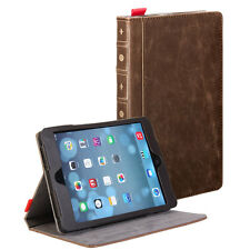Brown Classic Crazy Horse Pattern PU Leather Book style Case Cover for iPad mini