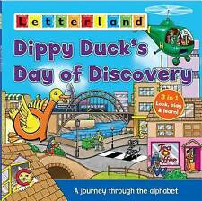 NEW LETTERLAND DIPPY DUCK'S DAY OF DISCOVERY 3 in 1 LOOK PLAY LEARN bk ALPHABET