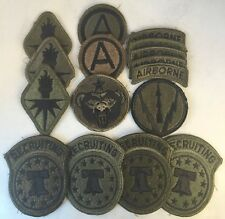 """Collectible Subdued Army Patch Lot ! 16 - 2.25-3"""" Patches ! FREE SHIPPING !!!"""