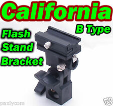 Universal hot Flash Shoe Umbrella Holder Swivel Light Stand Bracket B type DSLR