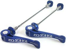 A2Z Quick Release Q/R Wheel Skewers Bicycle MTB Bike Blue QR Spindles