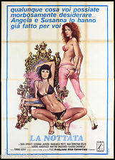 LA NOTTATA MANIFESTO CINEMA FILM JAVICOLI BROCHARD SEXY ITA 1974 MOVIE POSTER 4F